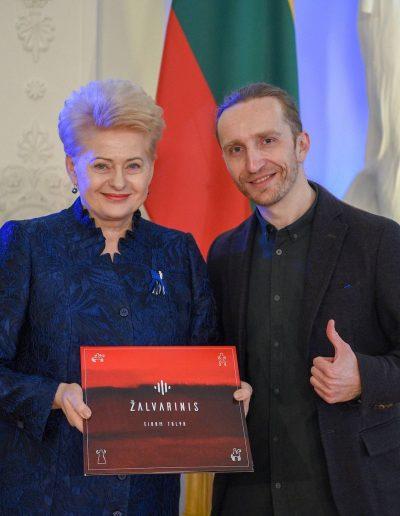 President of Lithuania Dalia Grybauskaitė & Robertas Semeniukas