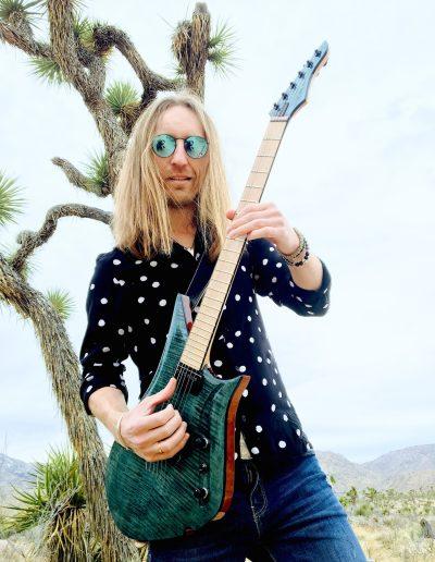 Robertas Semeniukas (Joshua Tree Park, CA) Lava Drops Guitars